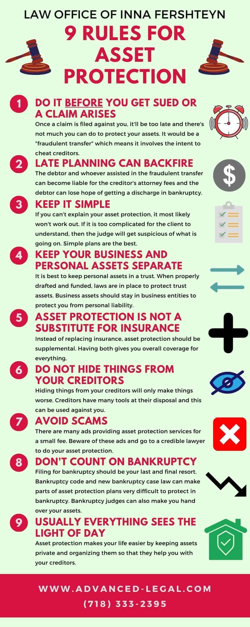 9 rules for asset protection